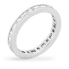 Kinna 2.5ct CZ White Gold Rhodium Eternity Band