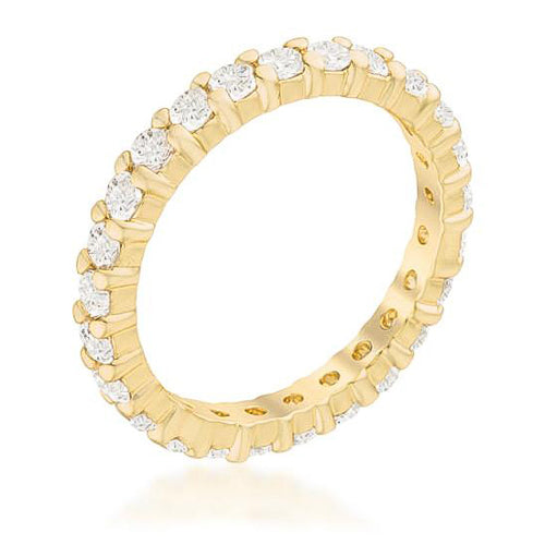 Grace 4.1ct CZ 14k Gold Classic Eternity Band