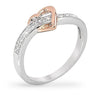 Willa 0.8ct CZ Two-Tone Simple Heart Ring