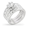 Benni 3.5ct CZ White Gold Rhodium Bezel Set Engagement Ring
