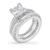 Lesley 7.5ct CZ White Gold Rhodium Pave Ring Set