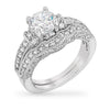 Sandy 4.9ct CZ White Gold Rhodium Bridal Ring Set