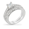 Grace 2.8ct CZ White Gold Rhodium Vintage Ring Set