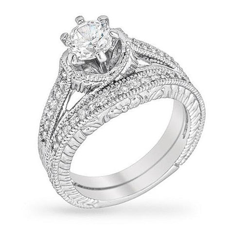 Jordan 2ct CZ White Gold Rhodium Ring