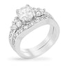 Indira 1.5ct CZ White Gold Rhodium Wedding Set