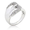 Michelle 1.7ct CZ White Gold Rhodium Belt Ring