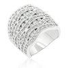 Salina 10.1ct CZ White Gold Rhodium Abstract Ring