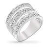 Tashia 5ct CZ White Gold Rhodium Wide Ring