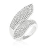 Wendy 3.4ct CZ White Gold Rhodium Pave Wrap Ring