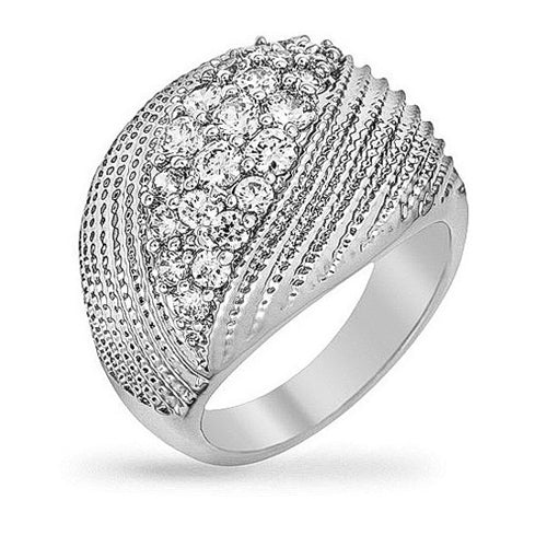 Daphne 4.5ct CZ White Gold Rhodium Ring