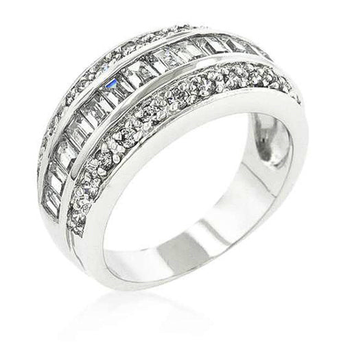 Aerie 5.8ct CZ White Gold Rhodium Eternity Ring