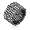 Laurie 22.5ct CZ Hematite Pave Ring