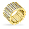 Laurie 22.5ct CZ 14K Gold Pave Ring