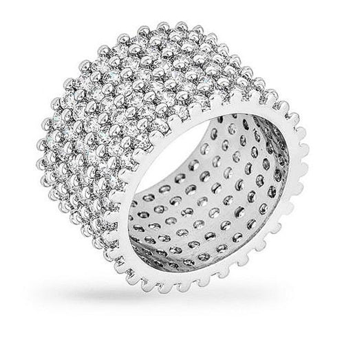 Laurie 22.5ct CZ White Gold Rhodium Ring