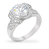 Lea 5ct CZ White Gold Rhodium Classic Ring