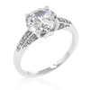 Constance 3.8ct CZ White Gold Rhodium Engagement Ring