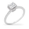 Josephine 2ct CZ White Gold Rhodium Vintage Micro Pave Engagement Ring
