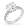 Audrey 5ct CZ White Gold Rhodium Engagement Ring