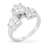 Bailey 3ct CZ White Gold Rhodium Classic Ring
