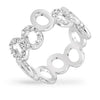 Lydia 0.3ct CZ White Gold Rhodium Circle Band