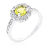 Emmelina 2.5ct Canary Yellow CZ White Gold Rhodium Floral Ring
