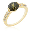 Juliette 1.8ct Olivine CZ 14k Gold Ring
