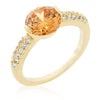 Juliette 1.8ct Champagne CZ 14k Gold Ring
