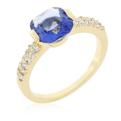 Florence 1.8ct Tanzanite CZ 14k Gold Simple Ring