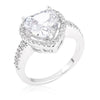 Vivian 3.9ct CZ White Gold Rhodium Heart Ring