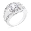 Savanna 1.2ct CZ White Gold Rhodium Split Band Ring