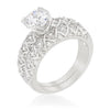 Ursula 2.2ct CZ White Gold Rhodium Bridal Set
