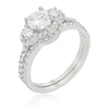 Fawna 1.5ct CZ White Gold Rhodium Elegant Bridal Set