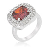Anita 4.1ct Ruby CZ White Gold Rhodium Cocktail Ring