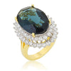 Donna 16.8ct Sapphire Crystal 14k Gold Cocktail Ring