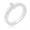 Willow 0.2ct CZ Sterling Silver Ceramic Band