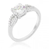 Sirah 1.5ct CZ White Gold Rhodium Solitaire Ring