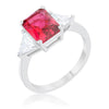 Cara Classic 4.5ct Fuchsia CZ White Gold Rhodium Engagement Ring