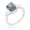 Cara Classic 4.5ct Mystic CZ Sterling Silver Engagement Ring