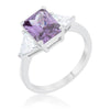 Cara Classic 4.5ct Amethyst CZ Sterling Silver Engagement Ring