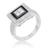 Shira 0.7ct CZ White Gold Rhodium Antique Ring