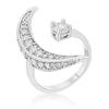 Luna .75ct CZ White Gold Rhodium Delicate Ring