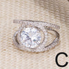 Summer Statement CZ Bling Rings