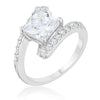 Caroline 2.3ct CZ Rhodium Statement Ring