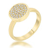 Krystal 0.2ct CZ 14k Gold Pave Circle Ring