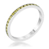 Teresa 0.5ct Peridot CZ Stainless Steel Eternity Band
