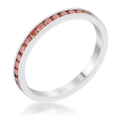Teresa 0.5ct Dark Champagne  CZ Stainless Steel Eternity Band