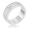 Dreya 1.6ct CZ Rhodium Stainless Steel Eternity Ring