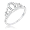 Madeline 0.2ct Rhodium Simple Crown Ring