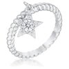 Cubic Zirconia Star Charm Fashion Ring