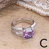 CZ Cushion Cut Rings